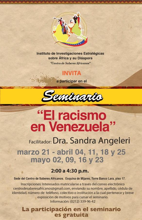 Seminario racismo en Venezuela