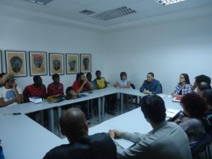 Viceministro Reinaldo Bolívar con  grupos de solidaridad de New York