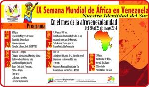 Programación IX Semana Mundial de África en Venezuela