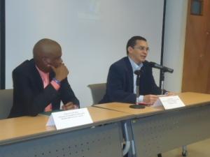Viceministro Reinaldo Bolívar y Embajador de Haití en Venezuela