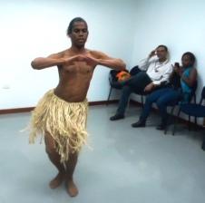 Muestra de danza africana