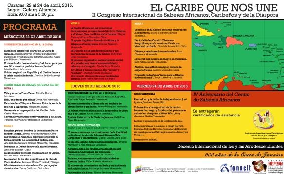 Programa del II Congreso Internacional El Caribe que nos Une