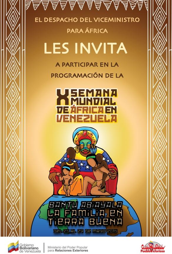 Invitacion X Semana Mundial de Africa en Venezuela
