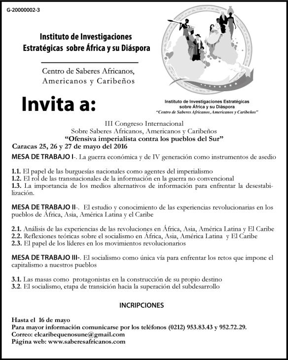 Aviso de prensa III Congreso Internacional